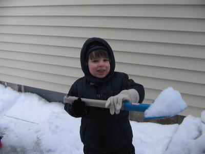 Noah shoveled