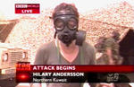 Hilary Andersson prepares for chemical or biological attack in Northern Kuwait