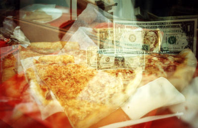 We walked for miles to get to Koronet for this giant pizza.  Then I triple exposed this photo.  Argh.