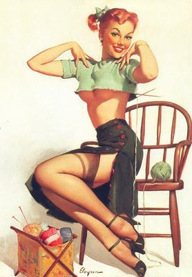 A Spicy Yarn Gil Elvgren